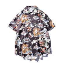 Aloha гавайская рубашка Для мужчин Fujiyama Дракон Тигр Орел с полной запечаткой короткий рукав футболки Летний пляж, отпуск в стиле «хип-хоп» муж...(China)