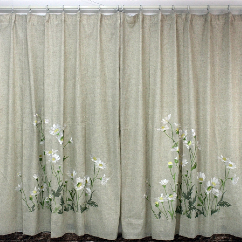 Фотография 180x230 cm modern window curtains linen floral 3d curtains for living room bedroom luxurious boy and girl
