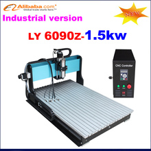 Best high Speed 1.5kw spidle CNC Router 6090 with Limit switch for each X,Y,Z axis for industrial version(China (Mainland))