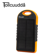 Buy Tollcuudda Solar Power Bank 12000mAH Dual USB Charging External Battery Charger Portable Mobile Power Bank Flashlight for $28.01 in AliExpress store