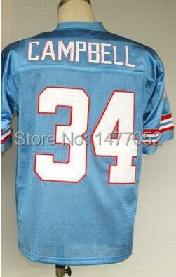 #34 Earl Campbell Jersey,Throwback Football Jersey,Sport Jersey,Size M--XXXL,Accept Mix Order(China (Mainland))