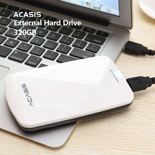 Free shipping 2.5'' Original ACASIS HDD 320G External hard drive USB2.0 Mobile Portable Storage Plug and Play Wholesale prices(China (Mainland))