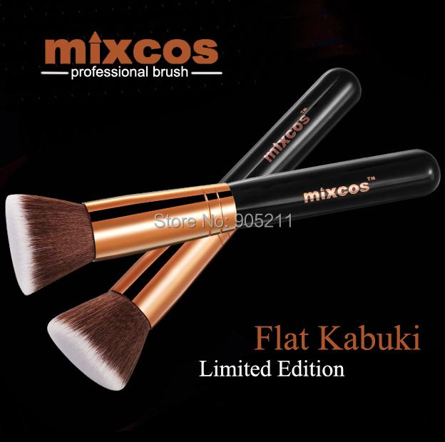 Limited Edition Rose Gold Flat top Kabuki makeup Brushes professional Foundation Powder make up brush maquiagem(China (Mainland))