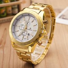2015 quartz gold watch men luxury brand top rose golden watches women ladies female clock male