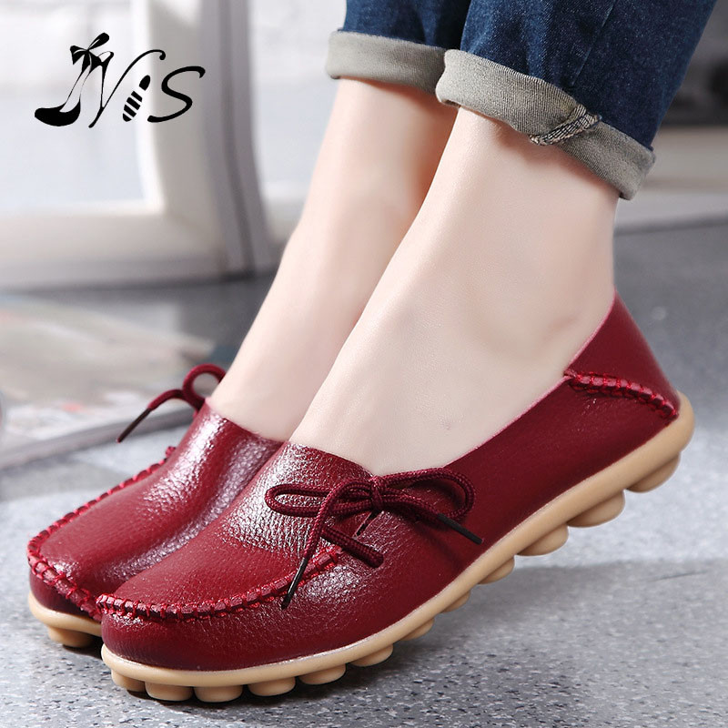 Hot Sale Leather Beanie Women Shoes Fashion Summer Spring Autumn Slip-on Knot Non-slip Womens Women Ladies Soft Loafers Flats<br><br>Aliexpress