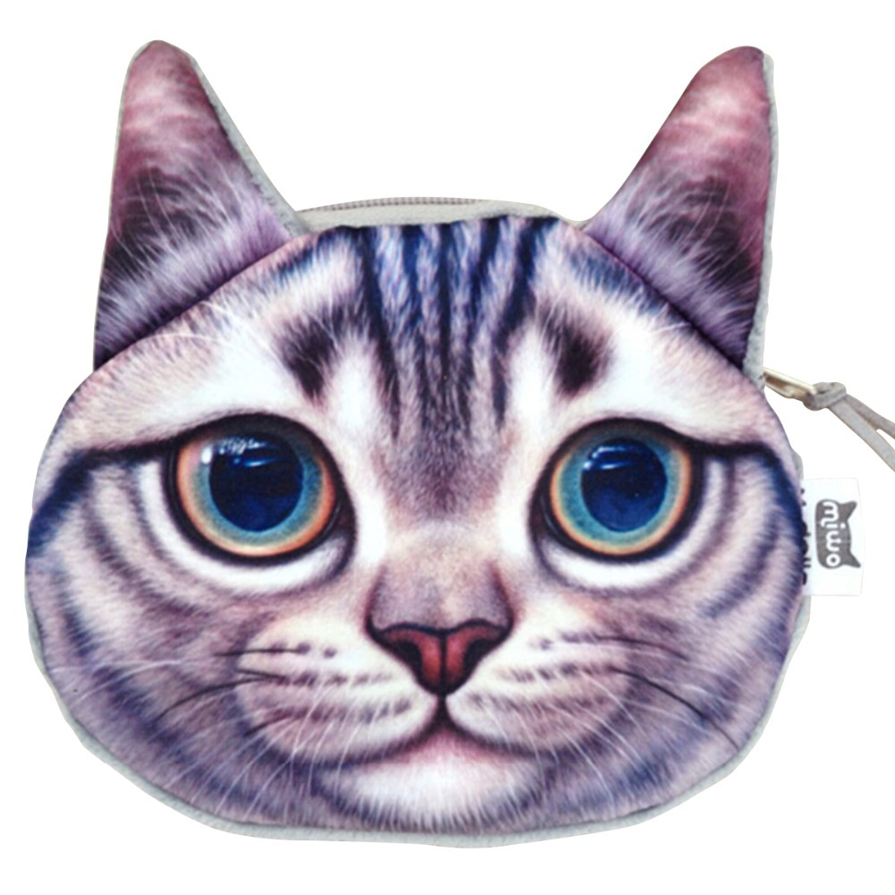 Fashion Coin Purses Cats Face Cartoon Change Purse Loverly Pouch Women Mini Wallets Clutch 2015 New Style 1pcs/lot(China (Mainland))