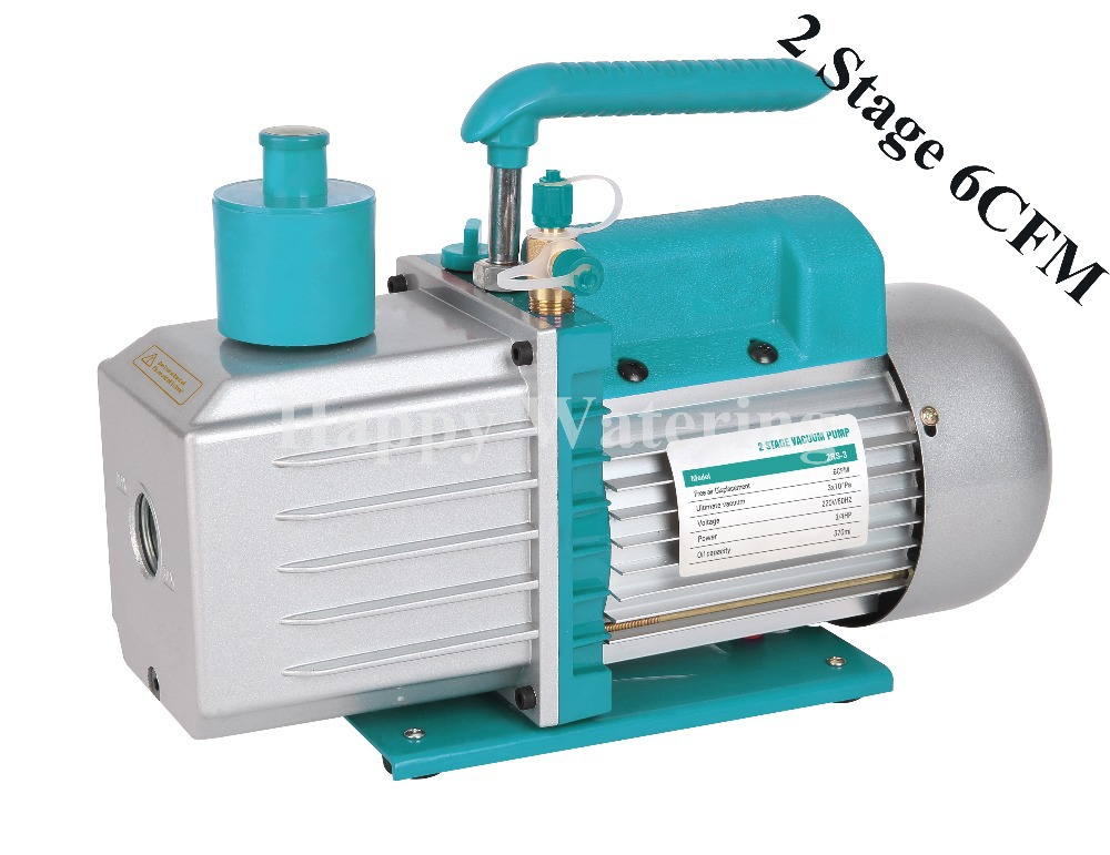Two Stage Air Conditioning Rotary Vane Automobile Vacuum Pump 220V at 6 CFM HVAC AC Air tool R410a R134(China (Mainland))