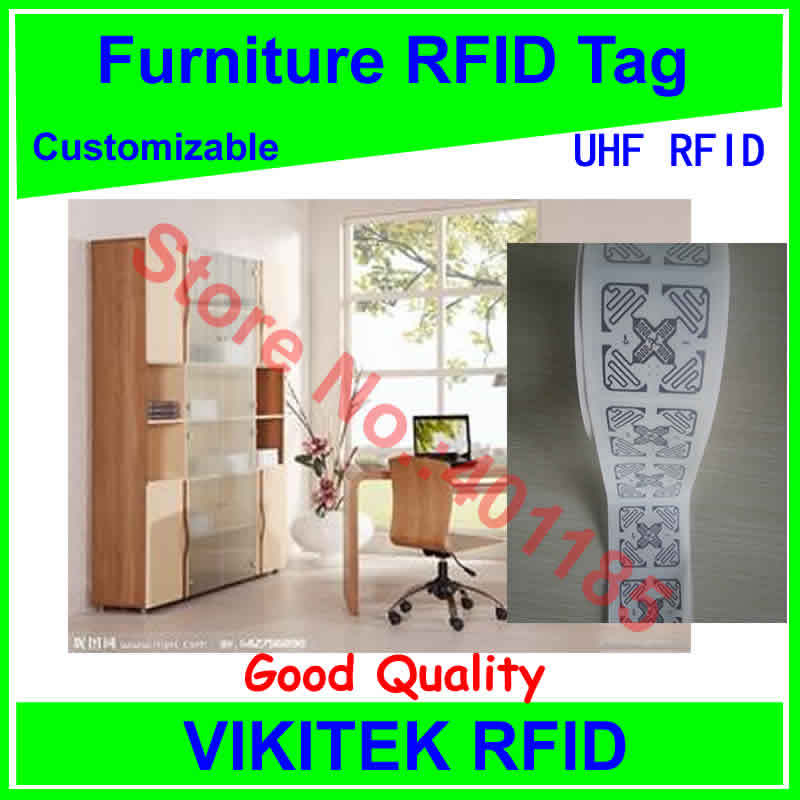 furniture management 3D UHF RFID tag customizable adhesive 860-960MHZ Monza4 EPC C1G2 ISO18000-6C can be used to RFID tag labe(China (Mainland))