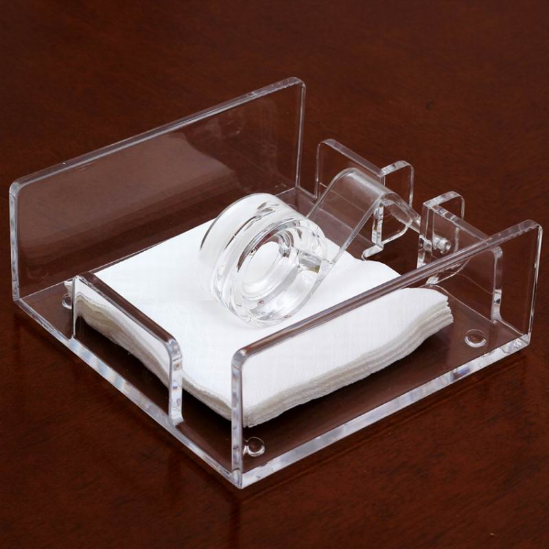 Middle Size Roller Style Seat Type Acrylic Napkin Holder for Sheet Paper(China (Mainland))