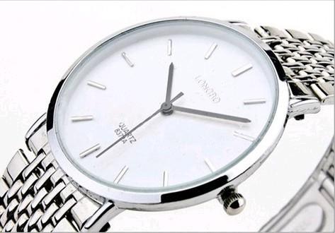 2016 New Hot sale 100% origianl Longbo waterproof Ultra-thin rhinestone male Wristwatches and femail lover stainless steel watch(China (Mainland))
