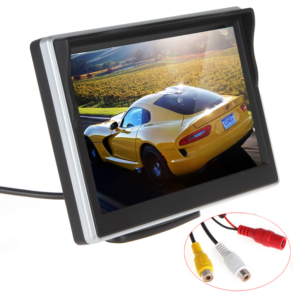 Free shipping 5 Inch TFT LCD screen Car Monitor Car Reversing Parking Monitor for Rearview Camera VCD/DVD/GPS(China (Mainland))