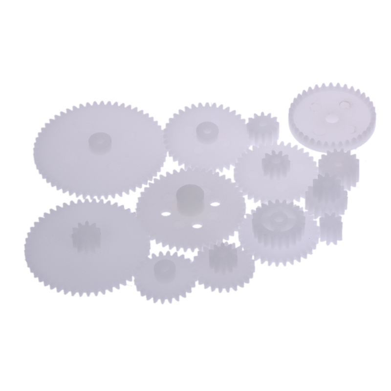 DIY 58 kinds white plastic Gear wheel All the Module 0.5 robot parts Accessories for assembly toy(China (Mainland))
