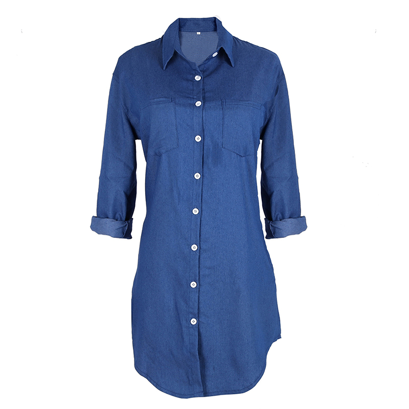 Fantastic Nikita April Cotton Denim Dress  Long Sleeve For Women In Jet Black
