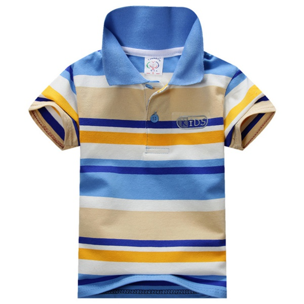 Cotton Tshirts for Boy Child Baby Stand Collar Striped Boy T-shirt Casual Tops for Kids 1-7Y<br><br>Aliexpress