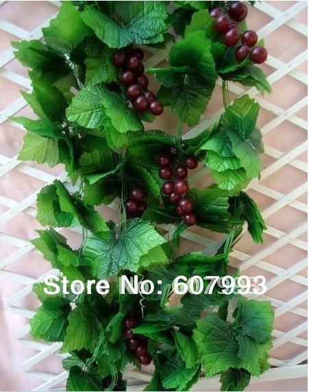 Flower pot decor picture more detailed picture about for Artificial grape vines decoration