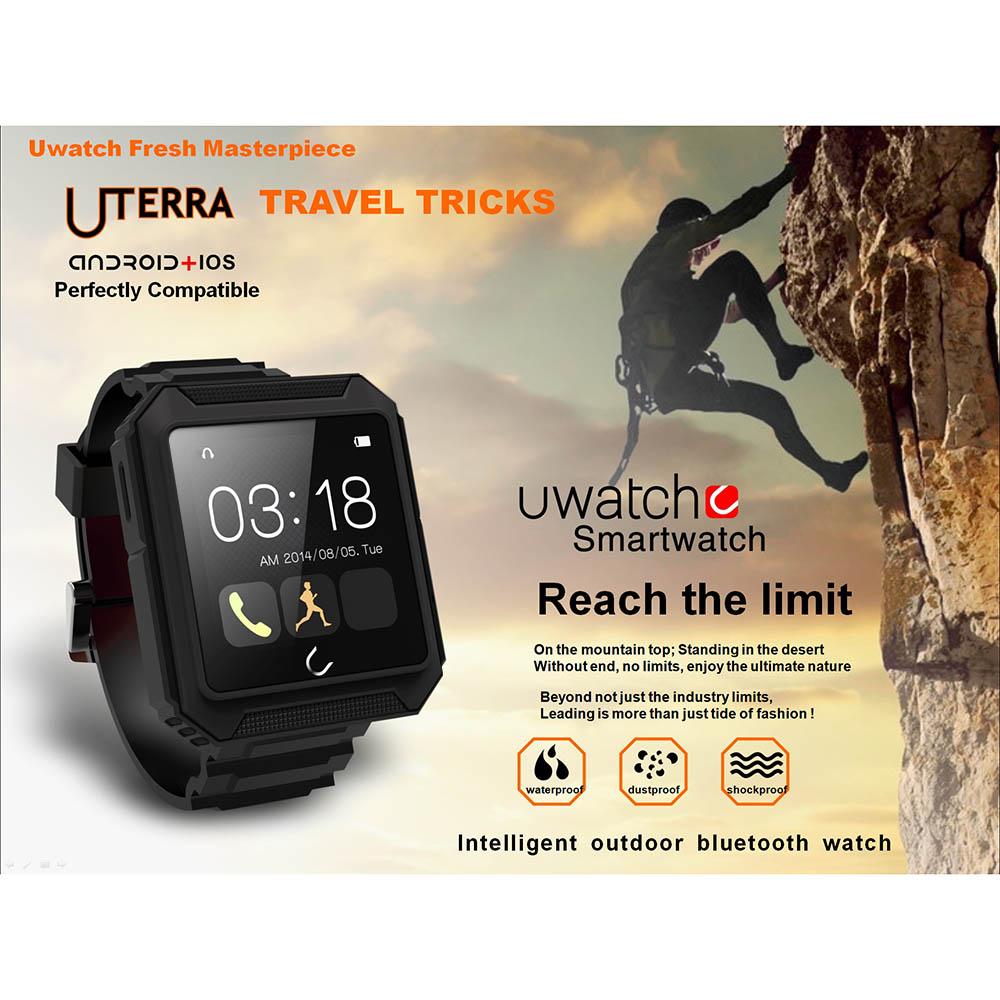 U Watch Bluetooth Smart Watch Waterproof Phone Call Pedometer Sleep Monitor Music Player Anti Lost for Andriod IOS Smartphones