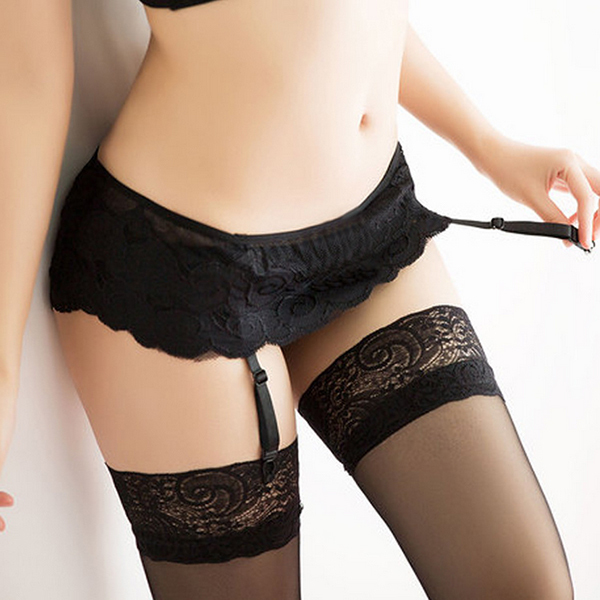 4 Colors Sexy costumes Women Lady Girl Thongs Lace Stocking Suspender Lingeries Dual Layer Garter Belts Hot Sale