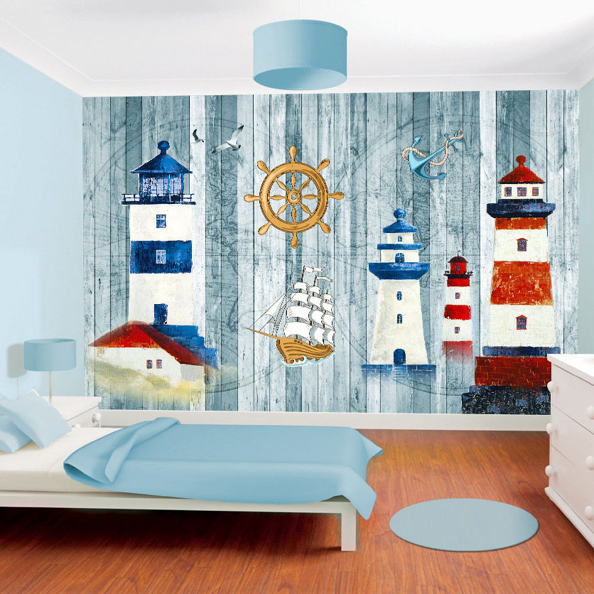 3d mural custom wallpaper cartoon themed navigation for Cartoon mural wallpaper