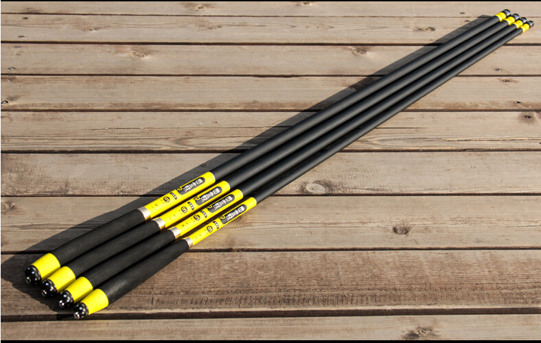 Carbon fishing rod 3.6 4.5 5.4 6.3 meters ultra-light ultra hard taiwan fishing tackle set free shipping