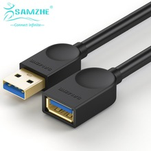 SAMZHE USB3.0 Extension AM/BF Cable 0.5m/1m/1.5m/2m/3m Phone USB Data and Charging Sync Transmission Cable(China (Mainland))