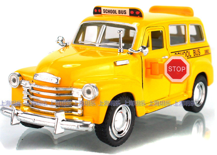 Kin for sm art soft world CHEVROLET subur for ban 1950 school bus alloy WARRIOR car toy