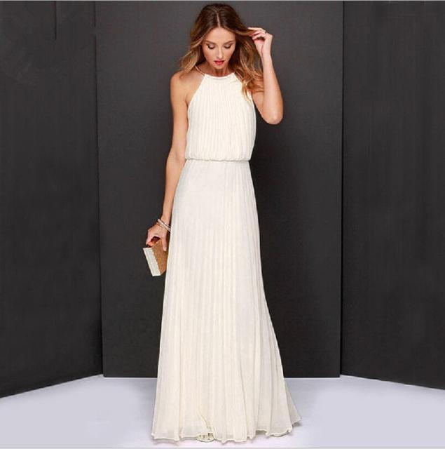 Продажи ebay европа и соединенные штаты стиль висит шеи чистый цвет платье без рукавов мода длиной до пола пляж dressess
