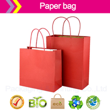 Red paper bags cheap customized logo paper bags shopping bag Recyclable Luxury Style Printed Gift Custom Shopping Paper Bag(China (Mainland))
