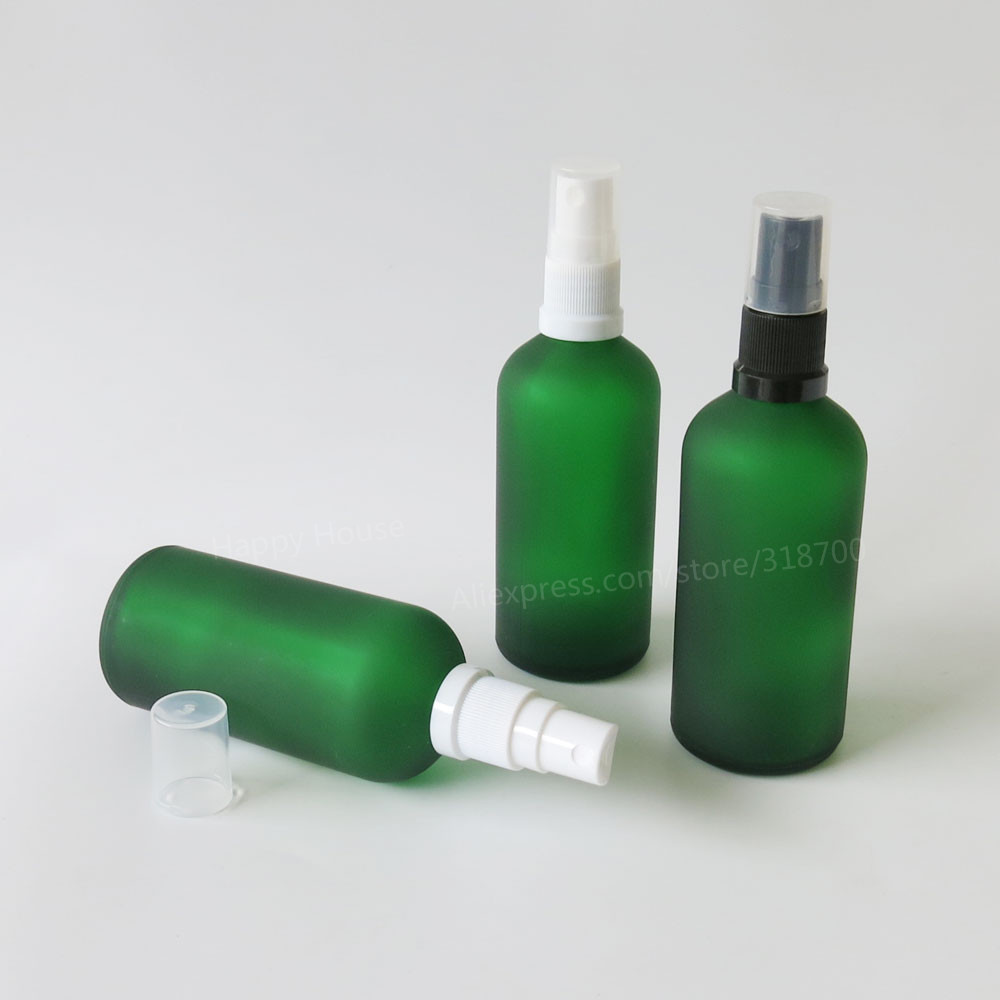 360 x 100ML Frosted Green Perfume Glass Bottle, 100cc Glass Mist Sprayer Bottle, 100cc Glass Container<br><br>Aliexpress