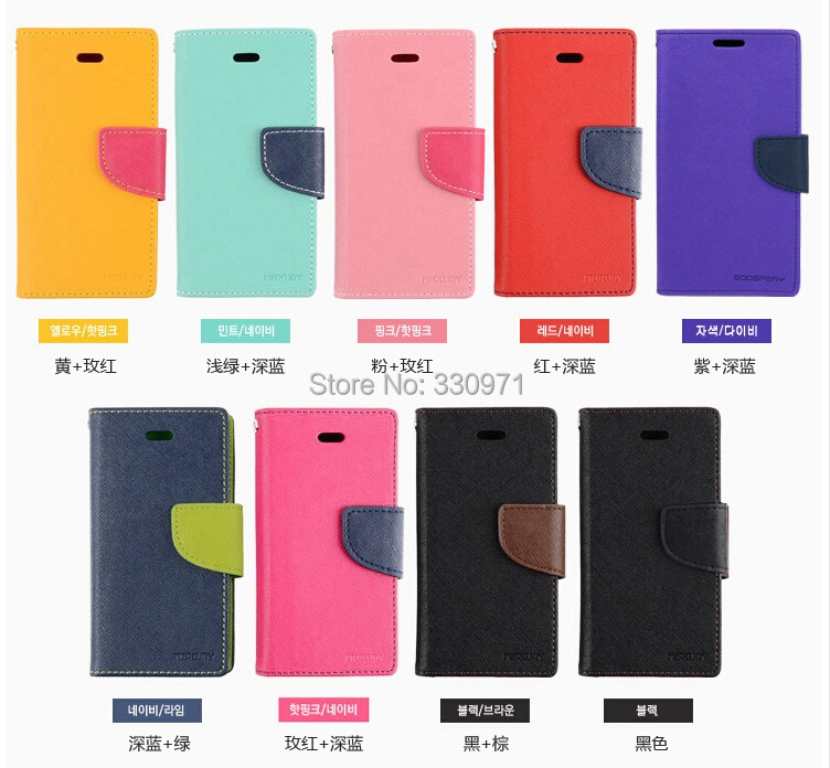 Newest  Hot Selling Korean Mercury Series PU Leather Case For Apple iPhone 5C Stand Wallet     Mobile Phone Case A1(China (Mainland))