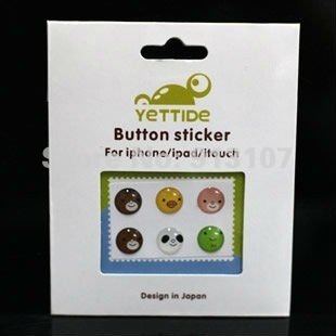 Hotsale! Home Button sticker for APPLE iPhone 4 4s iPad iTouch+ Free shipping +60pcs(10sets)