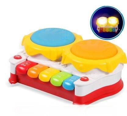 Free shipping Music baby drum luminous pat hand drum pentastar violin electronic piano baby toy Batteries not included(China (Mainland))