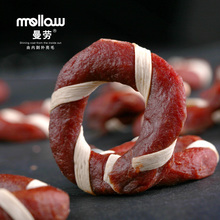 Manlao genuine fresh chicken bright circle hair beef 100g golden snack snacks pet snacks puppy(China (Mainland))