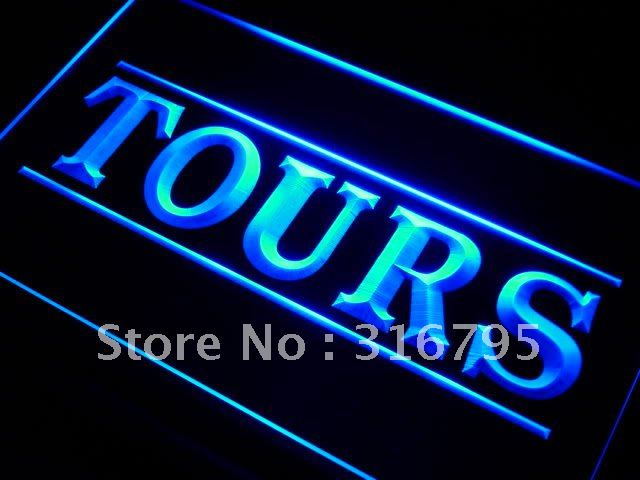 i282-b Tours Service Travel Agency LED Neon Light Sign On/Off Switch 7 Colors(China (Mainland))