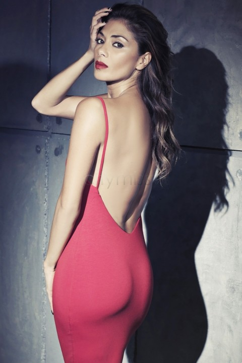 Red Open Back Bodycon Dress Red Sexy Open Back Cami