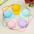 1 PC Women Girls Baby wallet Cute Newly Silicone Hat Portable Coin Waterproof Coin Bag