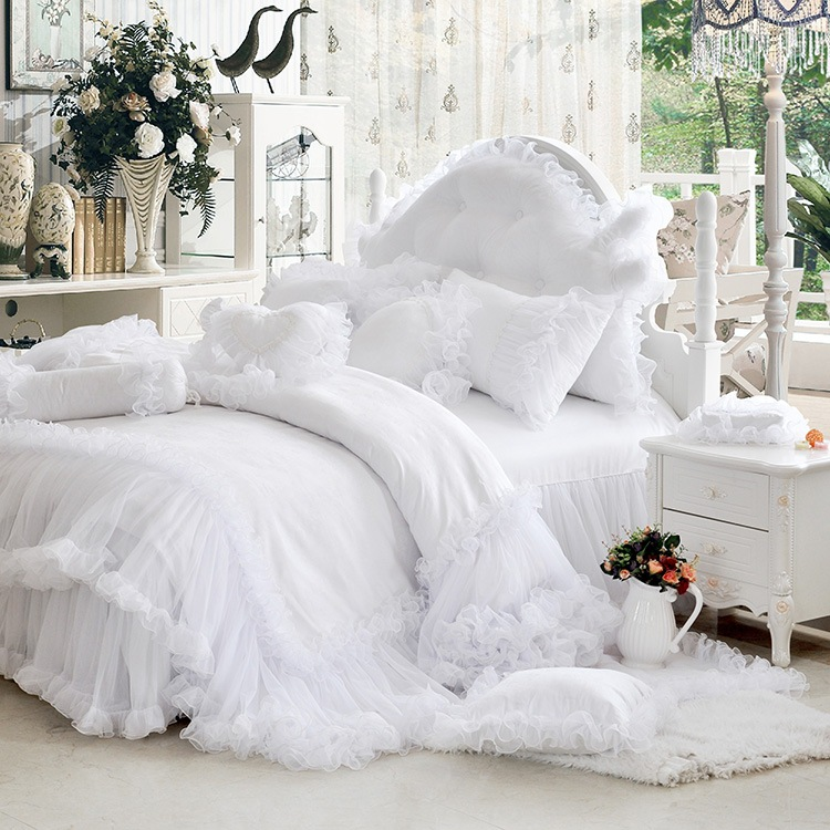 Twin White Ruffle Bedding Www Imgkid Com The Image Kid