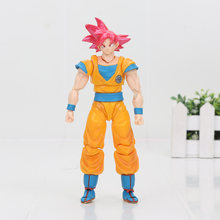 16cm anime dragon ball z fukkatsu f super saiyan deus ss vegeta troncos goku dragonball figura de ação brinquedo presente(China)