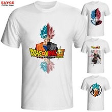 Super Saiyan Rose T Shirt Japanese Anime Goku Black T-shirt Cool Fashion Cartoon Dragon Ball Printed Tshirt Brand Men Tee - EATGE Store store