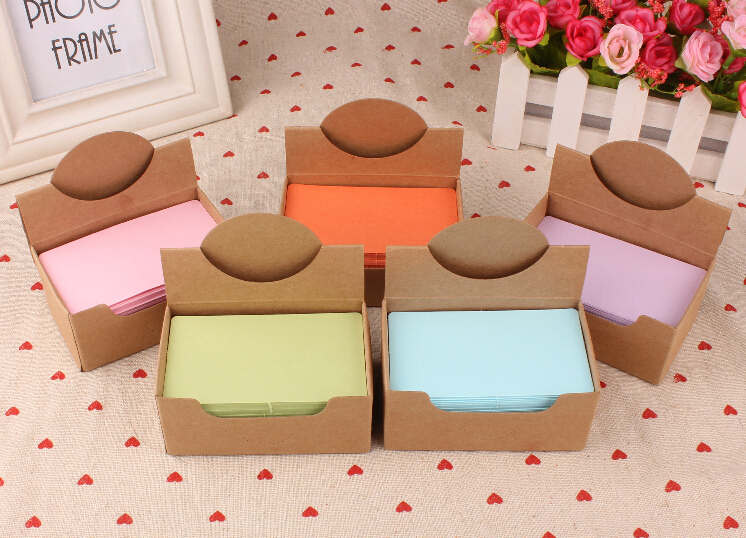 New blank kraft paper message card / Notepad / memo pads /bookmark/100piece per pack / Free Shipping(China (Mainland))