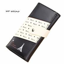 Buy wo weino Women Eiffel Tower Pattern Coin Purse Long Wallet Card Holders Handbag Wallet famous brand Free for $4.99 in AliExpress store