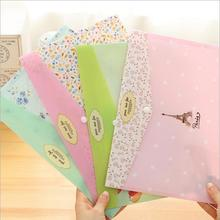24pcs/lot Fresh flower A4 PVC File folder /Documents organizer bag/Stationery Filing Production/Wholesale(China (Mainland))