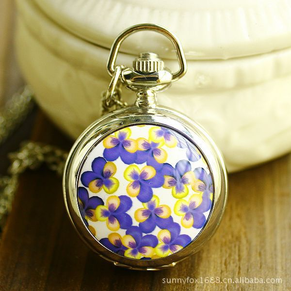 Fashion Trendsetter Clothing S Enamel Table Of Blue Yellow Petals Watch  New With Tags Unisex Quartz Antique Pocket Watches<br><br>Aliexpress