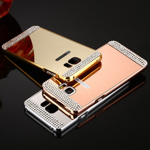 Rhinestone Bling Diamond Mirror PC Cover Metal Aluminum Hard Case Samsung Galaxy A3 A5 A7 A8 J3 J5 J7 S5 S6 S7 Grand Prime - Shenzehn RH 3C Trading Company Co.,Ltd store