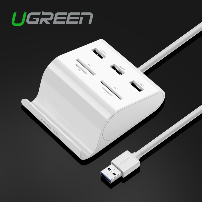 Ugren All in 4 USB 3.0 HUB Card Reader SD TF MS M2 Multi Memory USB Card Reader for Laptop Computer(China (Mainland))