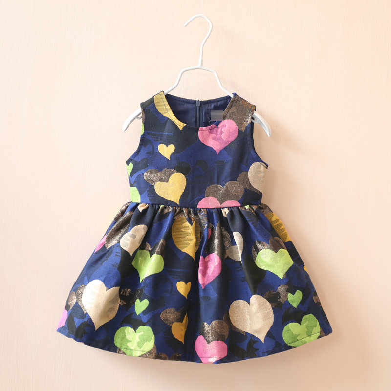 iYiya Kids Clothing For Sale Costume Girls Clothes Spring 2016 Cheap Clothes China Heart Pattern Girl Dress 5pcs/lot<br><br>Aliexpress