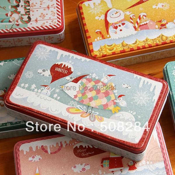 Christmas turtle 6 stationery storage box zakka tin(China (Mainland))