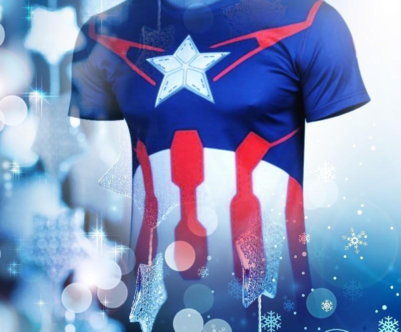 2015 Top Sales Superhero T shirt Tee Superman Spiderman Batman Avengers Captain America Ironman 20 Style Cycling Clothing S-4XL(China (Mainland))