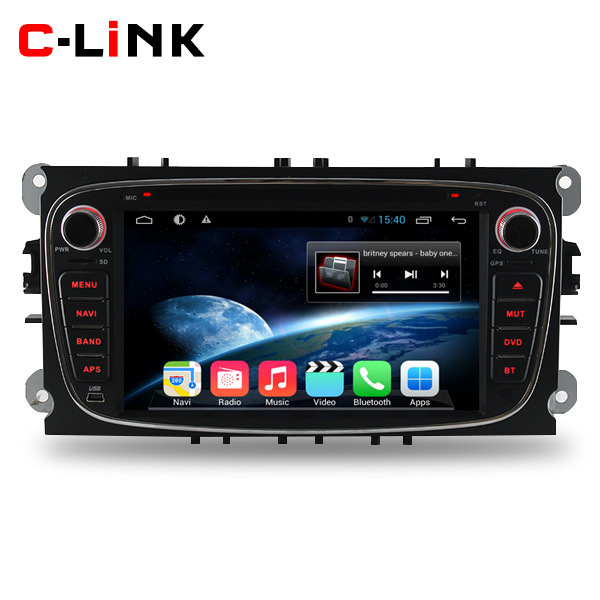 Pure Android 4.4.2 Dual Core 1.7GHz Car PC Video Player For Ford Focus Mondeo S-Max Connect C-Max With Radio GPS Bluetooth WIFI(China (Mainland))