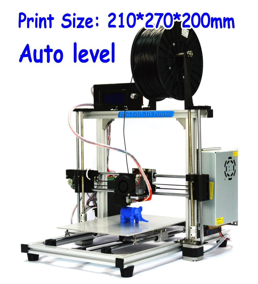 HIC Reprap Prusa i3 Smart Auto Leveling 3d printer Silver Aluminum Frame Desktop DIY 3D Printer