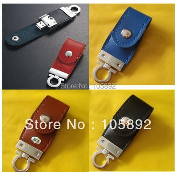 Free shipping 2GB 4GB 8GB 16GB 32GB Customized logo leather usb flash drive memory stick thumb drive usb pendrive